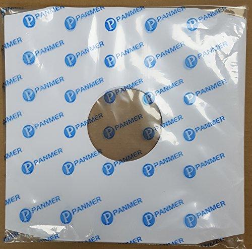 Panmer 50 buste interne di carta per dischi in vinile, bianche (30,5 cm)
