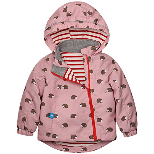 Catawe Kinder Jacke Junge Mädchen Regenjacke Frühling Herbst Winter Windjacke Süßem Pattern Mantel für Körpergröße: Label 110/Age 4-5T, Rosa