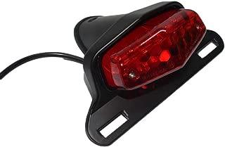 Beautyexpectly Black Red Motorcycle Parts British Lucas Style LED Rear Tail Brake Light License Plate Mount For Harley Bobber Chopper Custom Honda Yamaha Suzuki Kawasaki