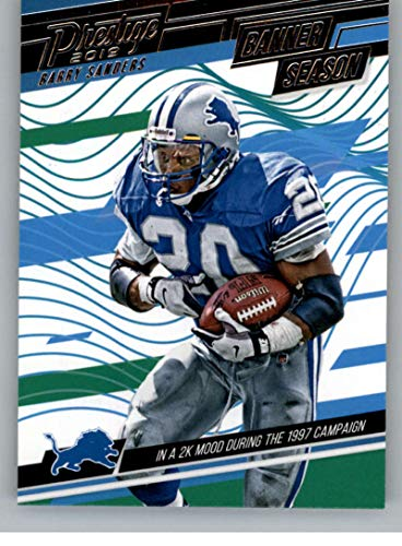 2019 Prestige NFL Banner Season #17 Barry Sanders Detroit Lions Panini Football Insert Trading Card