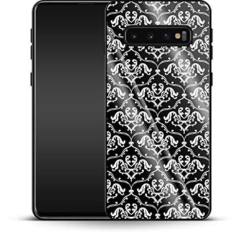 Funda para Samsung Galaxy S10 Plus, diseño de Lirios franceses, Color Negro