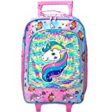 Kids Suitcase, Rolling Luggage with Wheels for Girls - Unicorn