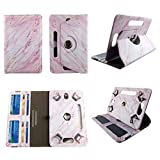 Pink Marble Tablet case 8 inch for Zeki TBQG 8' 8inch Android Tablet Cases 360 Rotating Slim Folio Stand Protector pu Leather Cover Travel e-Reader Cash Slots