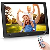 10 Inch Digital Picture Frame - HD IPS Display, Digital Photo Frame with 1080P Video, Music, Calendar, Alarm, Support USB and SD Card