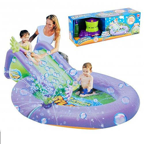 Piscine Gonflable Enfant + tobogan + bulle - 279x173x76 Sans pile - 675