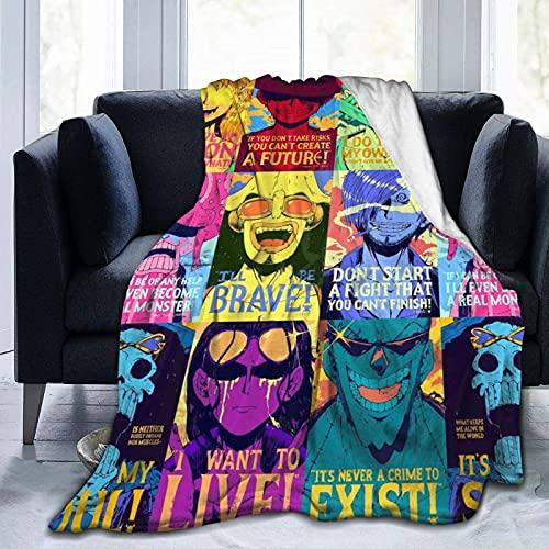 Coperta calda in peluche, lavabile in lavatrice, resistente, Att-ack On Ti-tan Anime, portatile comodo telo da spiaggia per viaggi, divano, soggiorno, 150 cm x 150 cm