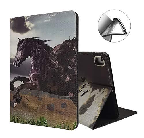 iPad Mini 5 Hülle, Mini 4 Hülle, iPad Mini 1/2/3 Hülle, PU Leder Magnetischer Ständer Smart Cover mit Auto Sleep Wake Case für iPad 6. / 5. Gen/iPad Pro 9.7, Pferd
