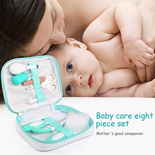 BelleStyle Baby Grooming Kit, Baby Care New born Healthcare kits, 8 Pcs Essential Baby Care Items for Travelling & Home Use with Manicure Set