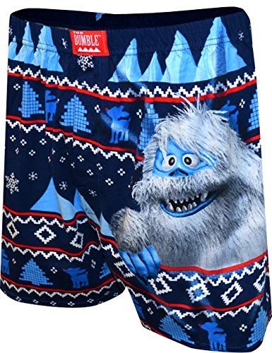 Rudolph the Red Nosed Reindeer Men's Christmas Bumble Boxer Shorts (Medium)