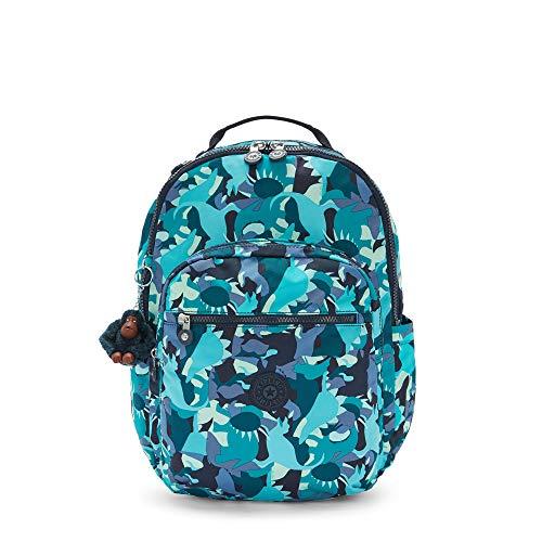 Kipling Seoul Large 15' Laptop Printed Backpack Dino Print