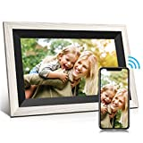 Jeemak 10.1 Inch WiFi Digital Picture Frame Photo Frame with HD IPS Touch Screen Auto-Rotate Adjustable Brightness Share Photos and Videos via App at Any time and Anywhere