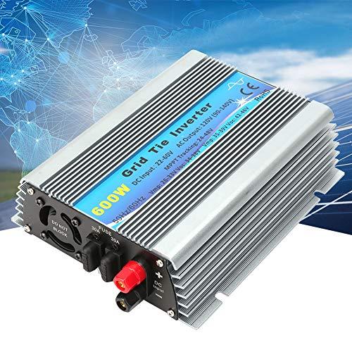 Inversor de Corriente, 600W 22-60V Indicadores LED Múltiples Conexión Red Inversor Solar Onda Sinusoidal pura Hogar, Alta Eficiencia Conversión para Aparatos de Aire Sistemas de Cine en Casa,