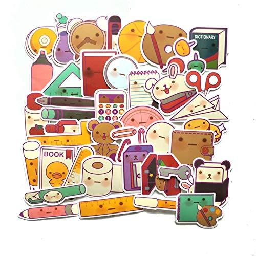 HENJIA Cuenta de Dibujos Animados papelería Regla Pegatinas para Maleta monopatín portátil Equipaje Nevera teléfono DIY pegatina41 Piezas