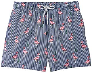 VINTAGE SUMMER Mens Swim Trunk XL Blue [並行輸入品]