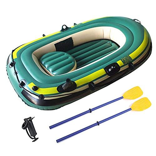 Kayak inflable para adultos, bote inflable, bote + remos + bomba, para navegar, pescar, cazar o jugar en lagos, ríos y rápidos de aguas bravas