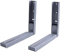 BCX 1 par de soportes universales para microondas de montaje en pared: negro, lechoso, gris,gris