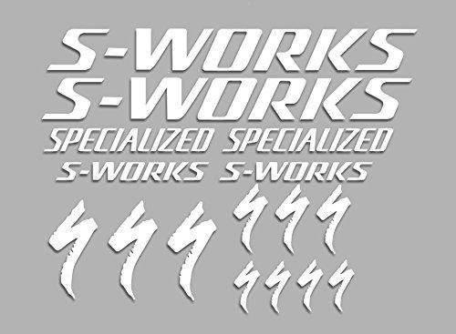Ecoshirt G9-689P-DWJQ Pegatinas Sworks S-Works Bike F34 Stickers Aufkleber Decals Autocollants Adesivi, Blanco