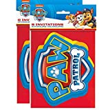 PAW Patrol 2 Pack Invitations for 16 Birthday Party Guests, Includes Envelopes