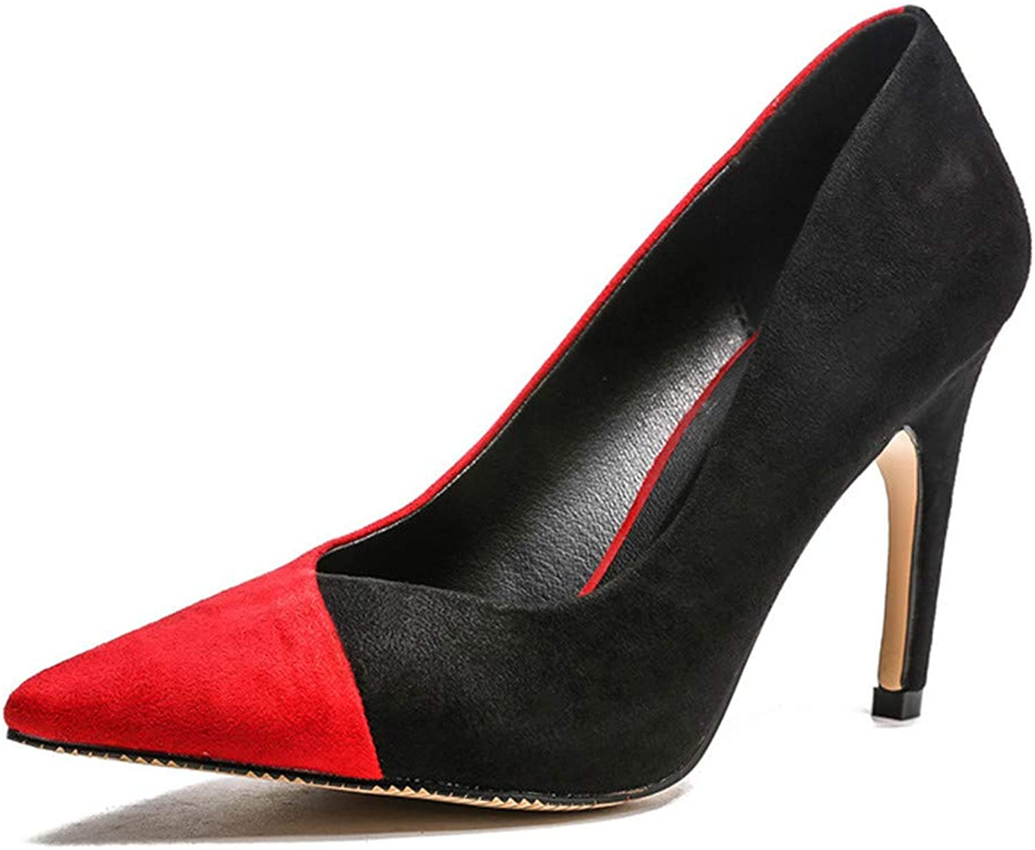 Meiren Pumps High Heel Pointed Stiletto Fashion Shallow Mouth Women's shoes Red