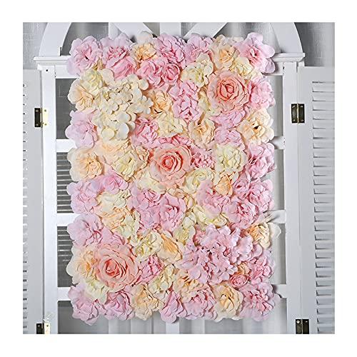 YNGJUENCP Flor Artificial, Protección Ambiental, Color Duradero, Paneles De Pared Fáciles De Instalación De 16 X 24 Paneles De Flores De Rosa De Seda De La Pared De La Pared para La Decorac(Color:03)