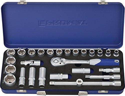 Promat Steckschlüsselsatz S4000821189 1/2 Zoll 27 tlg. 10-32 mm 6 KT