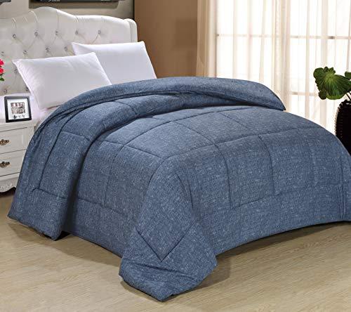 Swift Home All-Season Extra Soft Luxurious Classic Light-Warmth Goose Down-Alternative Comforter, Twin 68' x 90', Dark Indigo