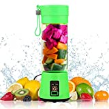 VOKUA Portable Blender, Personal Size Blender Juicer Cup - Strong Power Ice Blender Mixer USB Rechargeble Shakes and Smoothies Mini Fruit Mixing Machine Coming with Straws Set and a Cleaning Brush, Perfect for Smoothies, Milk Shakes, Ice Tray, Home, Outdoor, Travel, Home and Office Use