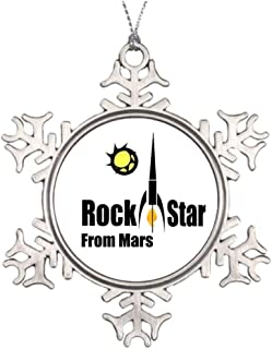 Yilooom Tree Branch Decoration Rock Star from Mars with Spaceship Mars Snowflake Ornaments Canada