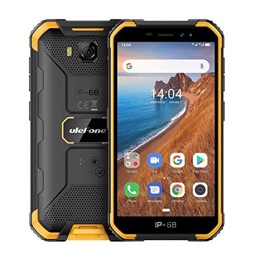 Outdoor Smartphone ohne Vertrag, Günstig Handy 5,0 Zoll, 2GB+16GB, Dual SIM Android 9.0 Phone, Face ID/WLAN/GPS, Ulefone Armor X6, Orange