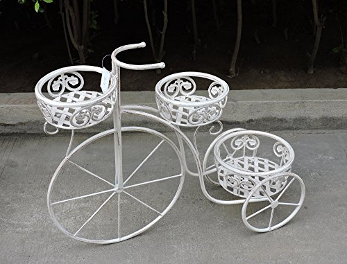 Euronovità EN-222203 Bicicletta Porta Piante Con Tre Porta Vaso H56 X 70 X 26 Cm