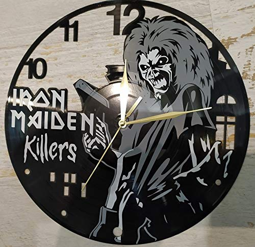 Iron Maiden Eddie Killers Decorative Designed Modern Vinyl Record Wall Clock Silent Large New Bedroom Livingroom Office Decore Analog Universal Decorate Your Home Best Gift for Music Lovers
