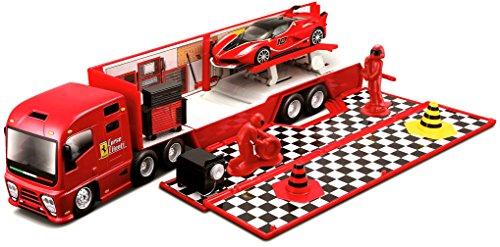 BURAGO - A1101817 - Véhicules miniatures - Camon Ferrari Race & Play - Stand de course