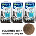 Biokat Diamond Care MultiCat Fresh Cat Litter 24L Scented Antibacterial Disposable And Hypoallergenic Hygiene Granules Cat Litter With Smell Control Formula Combined With 4.5cm Natural Catnip Ball from Biokat