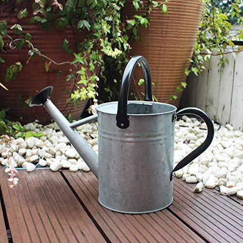 Cesun Zinkgießkanne, Gießkanne feuerverzinkt, Metallgießkanne für Led Lichterkette Gartenarbeit im Freien (3,8 L, Antiquität)