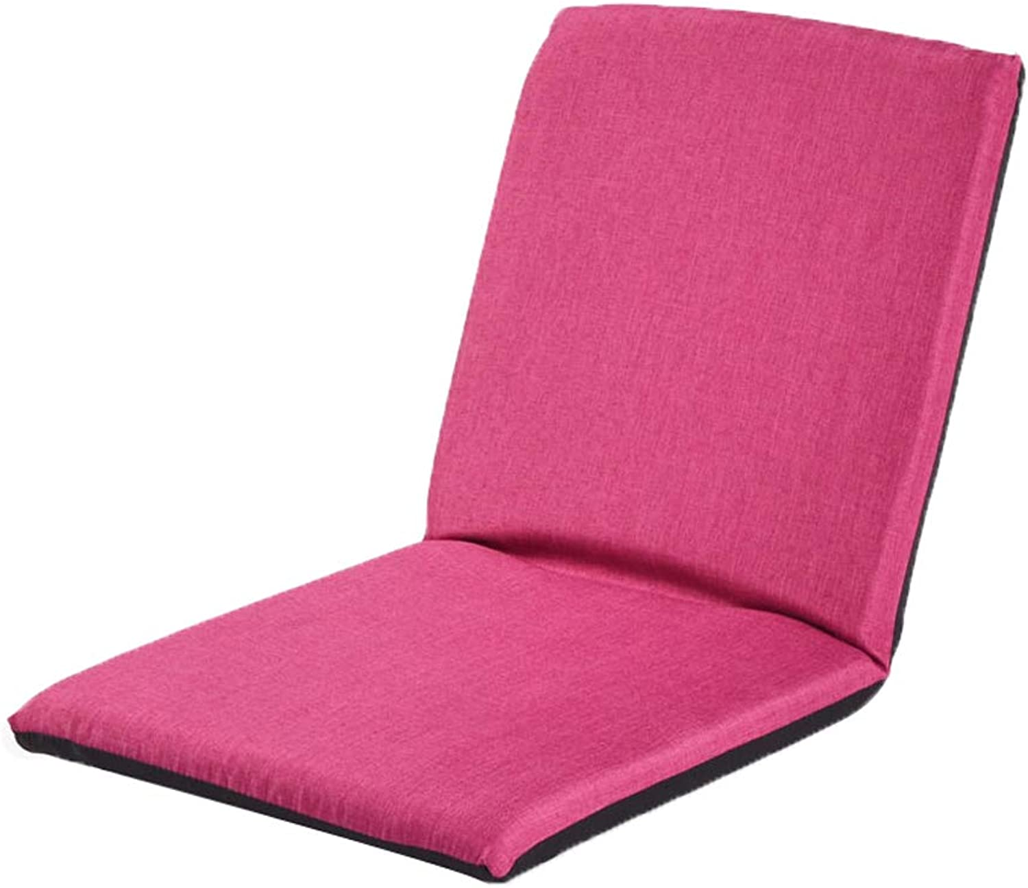 Lazy Sofa, Bed Leisure Chair Foldable Single Balcony Bay Window Meditation Chair Lazy Lounge Chair Folding Mat, Multi-color Optional (color   pink red)