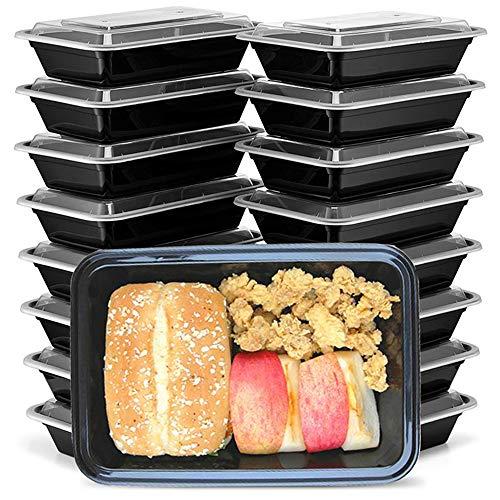 HENSHOW 1 Fach Meal Prep Container mit 20er, 1000ML Prämie Wiederverwendbar BPA Free Lunchbox mit Deckel, Mikrowelle, Gefrierschrank, Spülmaschinenfest