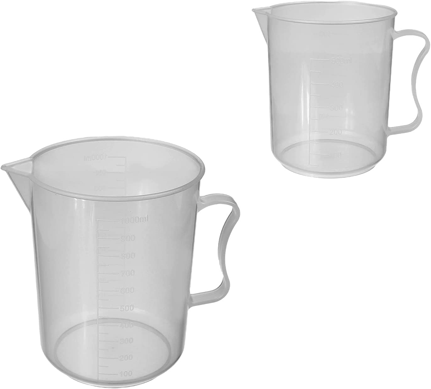 Cheap mail order sales Othmro Measuring Cup 500ml and PP Ranking TOP17 1000ml Plastic Beak Graduated