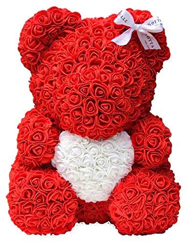 Notta & Belle Bären aus den Rosen. Premium Quality (Rot mit Herz, 35cm)