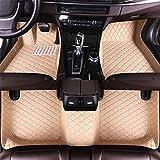 DBL Auto felpudos para A UDI A8 5 seats 2006 – 2010 impermeable antideslizante piel alfombras accesorios interiores Auto Alfombras Set Set Beige
