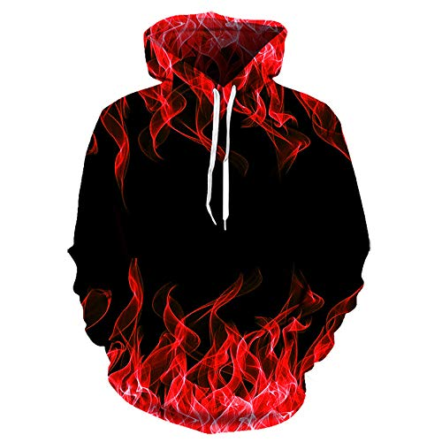 Zaima Bunte Flame Series Hoodie 3D Sweatshirt Männer / Frauen Kapuze Herbst Wintermantel Jacke Hoodies Casual Sweater