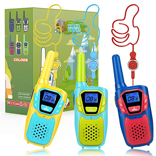 Topsung Walkie Talkie Kinder 3er Set ab 3 5 6 8 12 Jahre, Lizenzfrei VOX Funkgerät Mädchen Junge Erwachsene,PMR446 Walkie Talkie Spielzeug Geschenk Geburtstag Weihnachten Innen Outdoor Party Wandern