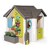 Smoby - Maison Garden House - Cabane de Jardin Enfant - Thème Jardinage - 3 Outils de Jardin Inclus - 810405
