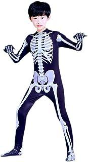 ZUOZHE Traje De Esqueleto Adulto para Niños Disfraz De Disfraces De Halloween Juego De Terror Esqueleto Juego De Fiesta pa...