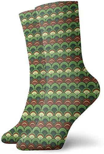 ONGH Abstract Ornament Weihnachtsschmuck Classic Crew Socks Flachstrick Casual Athletic Stoking 30CM Leichte Luftdurchlässigkeit