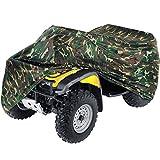 Heavy Duty Waterproof Superior ATV Cover Fits Up To 99' Length 4-Wheeler 4X4 Camouflage Color, Compatible with Polaris, Suzuki, Yamaha, Kawasaki, Honda, ATV Cover Rancher, Foreman, FourtraX