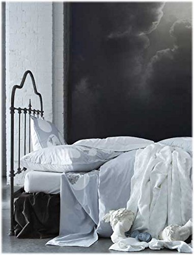 Essix - Drap Plat Botanic Percale de Coton Blanc 180 x 290 cm