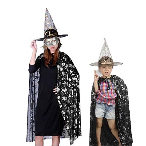 Funpa Halloween kostuum set creatief skelet party kostuum met masker en handschoenen Zilver.