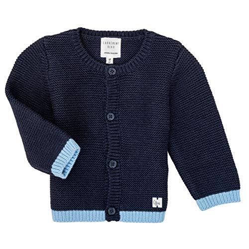 CARREMENT BEAU Strickjacke aus Bio-Baumwolle für Babys Gr. 86, Nacht.