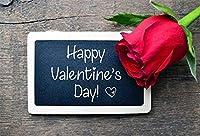 HD 7x5ftハッピーバレンタインs日の背景写真のバラの花黒板背景黒板木製ボード2月14日ロマンチックなパーティーの装飾写真ブース撮影ビニールスタジオの小道具