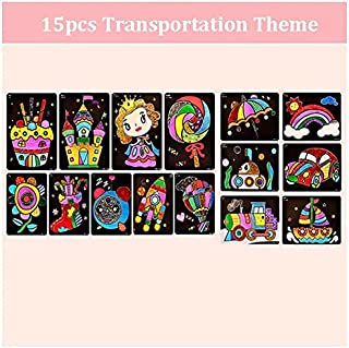 Stickers - 9pcs-20pcs Children Shining Color Paper DIY Art Craft Toy Kids Creative Stickers Drawing Handmade Scratching Pa...